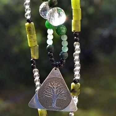 Náhrdelník Zelené Srdce Přírody - nefrit, turmalín  - 4