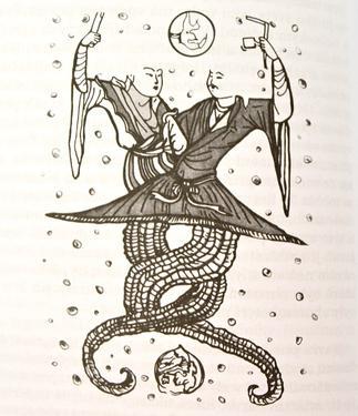 Soška mosaz / bronz - Kosmická Matka Nüwa  - 4