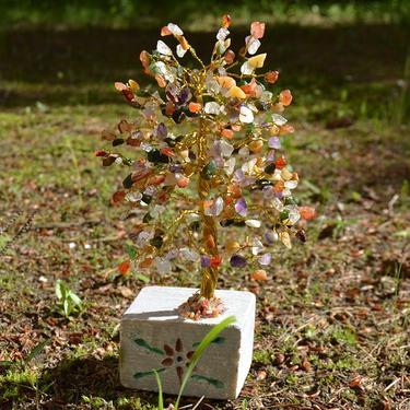 Stromeček štěstí - Mix polodrahokamů, 320 kamínků  - 4