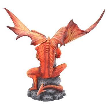Socha fantasy exclusive - Velký ohnivý drak  - 4