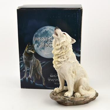 Fantasy soška Sněžný vlk - sedící  - 5