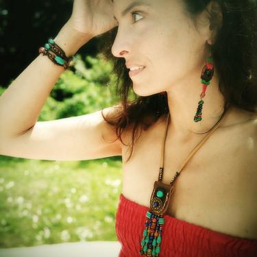 Šamanský náhrdelník IINII - Indigo  - 5