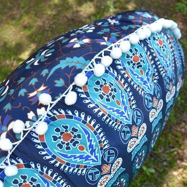 Meditační polštář kulatý Modrá Mandala 80 cm  - 5