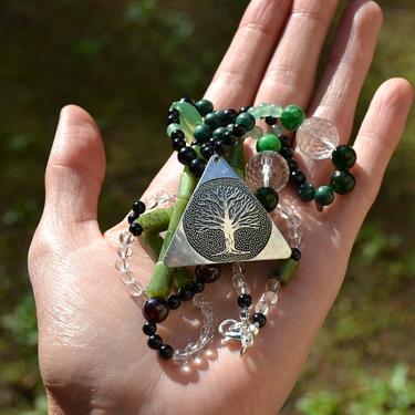 Náhrdelník Zelené Srdce Přírody - nefrit, turmalín  - 5