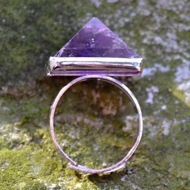 Prsten s ametystovou pyramidou rozevírací  - 5