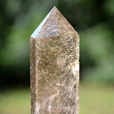 Broušená krystalová hůlka - Sagenit extra 64 g  - 6