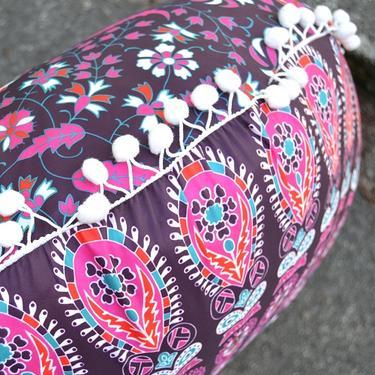 Meditační polštář kulatý Růžová Mandala 80 cm  - 6