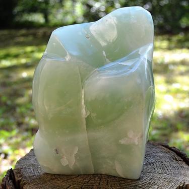Skulptura z drahého kamene - Kalcit zelený 1,1 kg  - 6