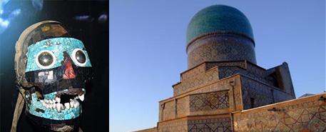 Tyrkysová maska a chrám